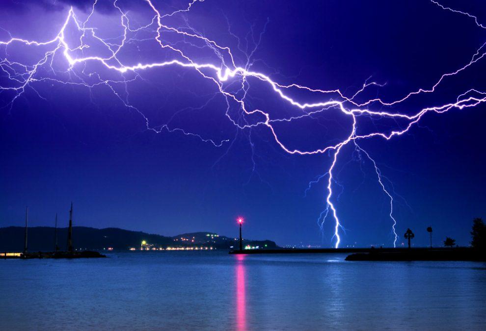 Magnetfeld eines Blitzes