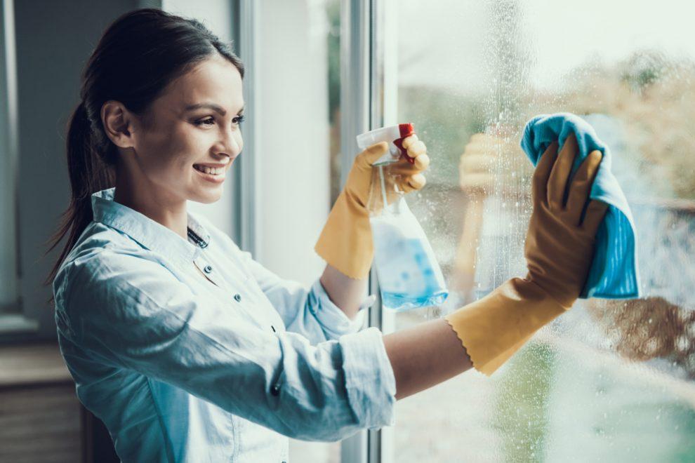 Fensterleder waschen