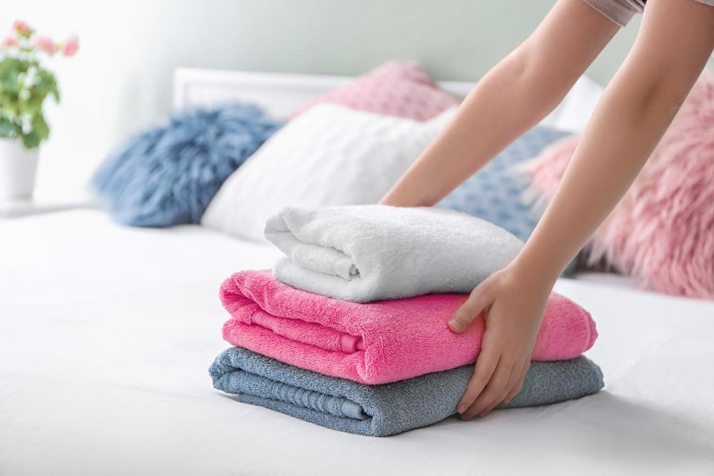 gewaschene handtücher