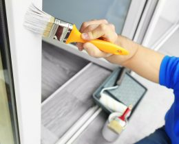 Kunststofffenster streichen