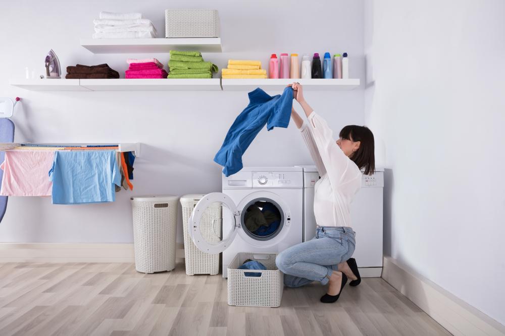 reinigung in der waschmaschine