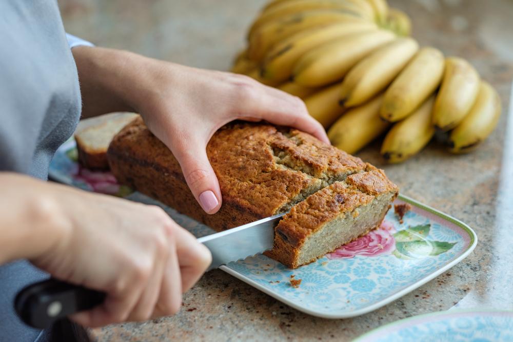 bananenkuchen in scheiben