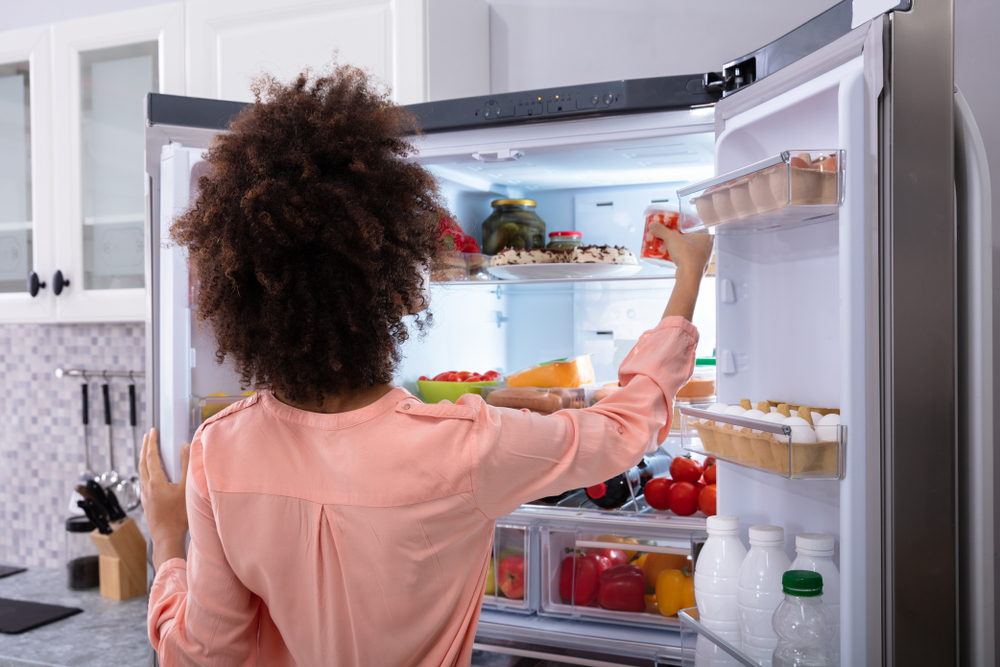 sojamilch im kühlschrank