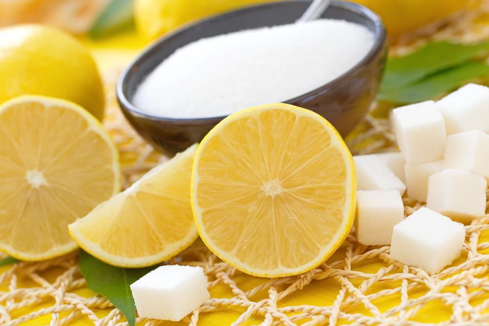 zitrone und zucker
