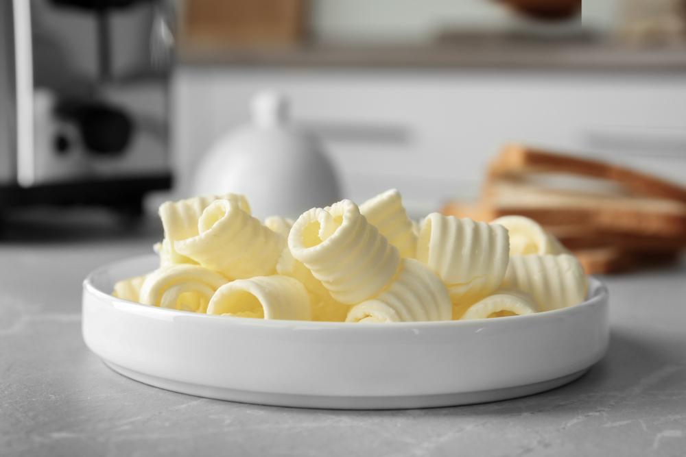 gerollte butter